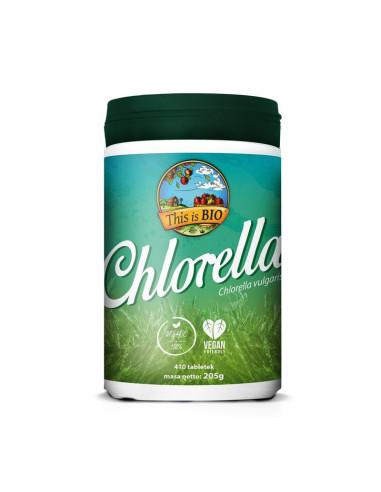 CHLORELLA 100% ORGANIC - 410tabl - This is BIO