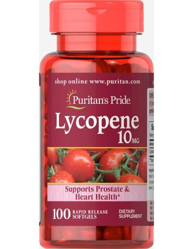 Puritan's Pride Likopen 10 mg - 100 kapsułek